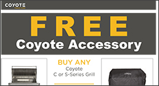 Coyote C and S-Series Free Grill Cover