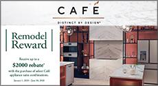 GE Cafe Remodel Reward Receive up to a $2000 Rebate