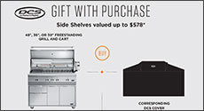 DCS Bonus Gift Free Side Shelves up to $578