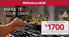 KitchenAid Appliances Receive up to $1700