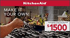 KitchenAid Appliances Receive up to $1500