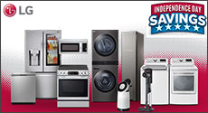 LG Independence Day Appliance Bundle Savings - 5% or 10%