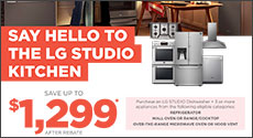 LG STUDIO - Save up to $1,299 with purchase of eligible Kitchen Appliances. Expires: 4-1-20