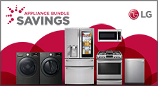LG Appliance Bundle Savings - 5% or 10%