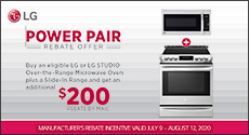 LG Power Pair Rebate Offer