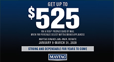 Maytag Appliances Save up to $525
