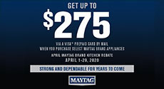 Maytag - Receive up to a $275 Rebate