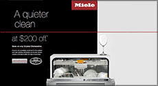 Miele Crystal dishwashers $200 Off  in Savings
