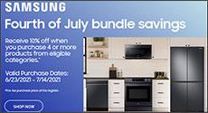 Samsung July 4th Kitchen Bundle Savings Promo