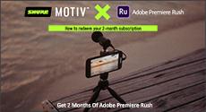 Shure MOTIV x Adobe Rush Promo
