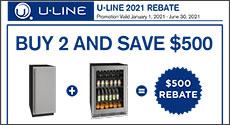 U-Line Buy 2 and save $500