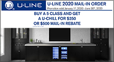U-Line Buy A 5 Class And Get A U-Chill For $250 Or $500 Rebate.