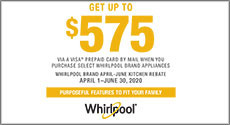 Whirlpool  Get up to a $575 Rebate