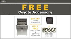 Coyote Free Grill Cover & Ceramic Briquettes