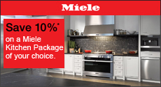 Miele - Save 10% with the purchase of a select Miele Kitchen Package. Expires: 11-30-19