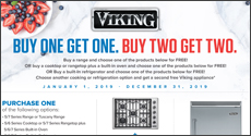 Viking - Save up to an $3,946  Instantly with the purchase of select Viking Appliances. Expires: 12-31-19