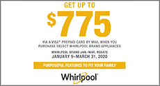 Whirlpool Appliances up to $775