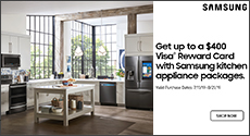 Samsung - Get up to a $400 Visa Reward Card with Samsung kitchen appliance packages. Expires: 08-21-19