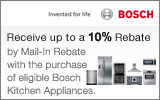 Bosch - Receive up to a 10% Mail-In Rebate with the purchase of select Kitchen Appliances. Expires: 3-31-14