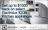 Electrolux ICON - Receive up to a $1000 Mail-In Rebate with the purchase of select Electrolux ICON Appliances. Expires: 12-31-13