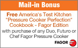 Fagor - Free Cookbook with the purchase of select Fagor Pressure Cookers. Offer Valid While Supplies Last.