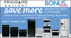 Frigidaire - Receive 5% Off Purchase Price when you buy 2 or more qualifying products. Expires: 11-1-14
