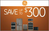 GE - Receive up to a $300 Mail-In Rebate with the purchase of select Slate finish GE Appliances. Expires: 8-20-14