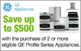 GE - Receive up to a $500 Rebate with the purchase of select GE Profile Appliances. Expires: 12-4-13