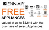 Jenn-Air - Receive a Free Dishwasher and Ventilation OR Undercounter Refrigeration Product with the purchase of select Appliances. Expires: 12-31-13