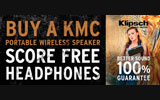 Klipsch - Buy  a KMC Portable Wireless Speaker and Score Free S3m In-Ear Headphones. Offer Good While Supplies Last.