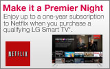 LG - Receive up to a one-year subscription to Netflix when you purchase a qualifying LG Smart TV. Expires: 8-16-14